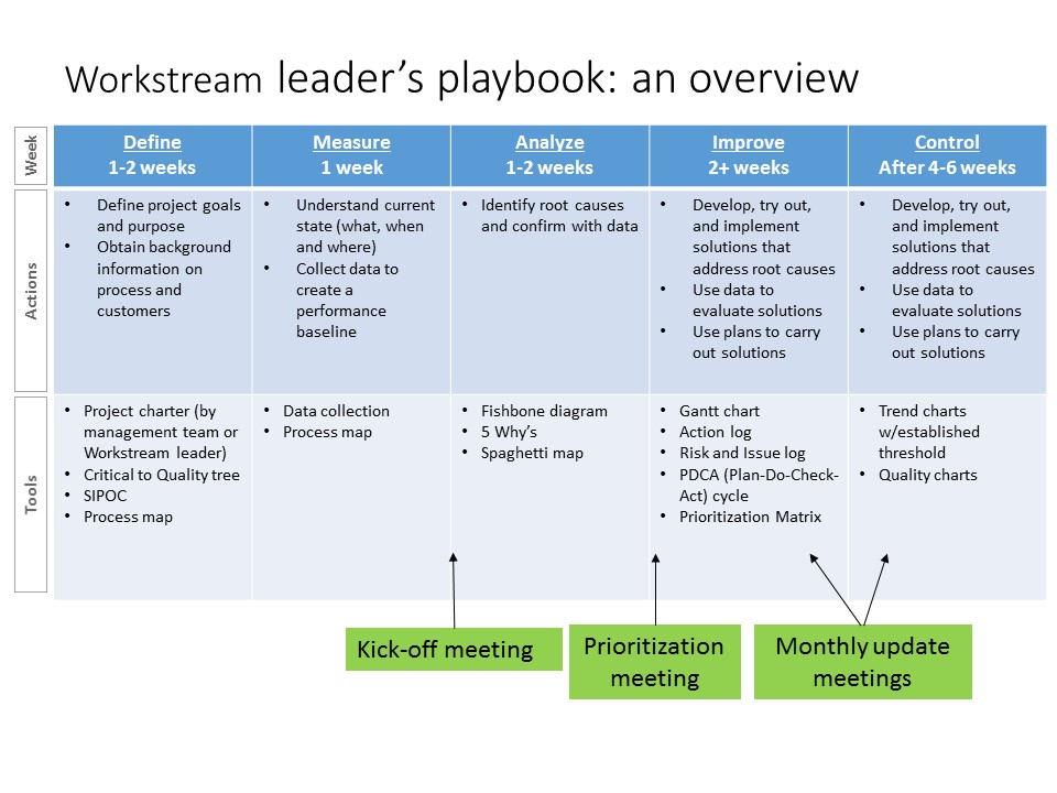 workstream leader's playbook: an overview